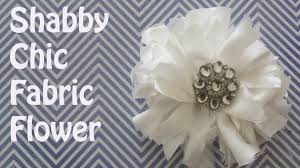 how to make a shabby chic fabric flower with bling youtube