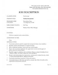 Resume Samples For Receptionist by Free Receptionist Resume Template