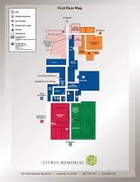General Hospital Floor Plan Hospital Floor Map Citrus Memorial Hospital Inverness Fl