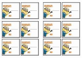 printable name tags despicable me name tags birthday printable