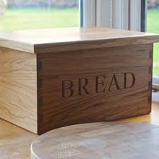 personalised wooden bread bin yumbles