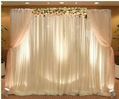 wedding backdrop drapes aliexpress buy 3mx6m white silk backdrop curtain with