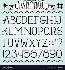 old tattoo font royalty free vector image
