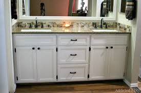 DIY Double Bathroom Vanity Addicted  DIY - Bathroom vanity design plans