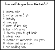how well do you know the bride u2013 come home for comfort