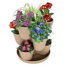 emsco 13 in 3 tier resin flower and herb vertical gardening