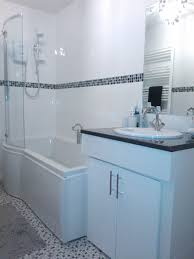 bahtroom contemporary bathroom design with nice bathtub bit glass