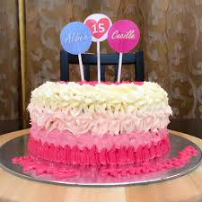 pink ombre wedding anniversary cake make it bliss