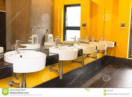 clean public toilet yellow colour room stock photo image 55972202