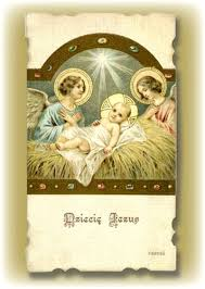 center greeting card with the child jesus