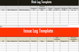 risk description template risk and issue log template excel learning