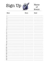Daycare Sign In Sheet Template Sign In Sheet Templates Free Sign In And Sign Up Sheet Templates