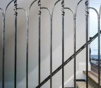 metal staircase panels menards cast iron railing best railings
