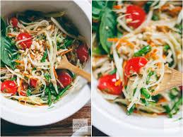 thai green papaya salad som tam ส มตำ vegan miam