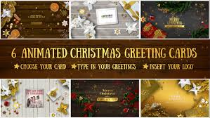 6 christmas greeting cards by gecoooh videohive