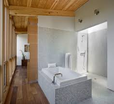 bathroom wood ceiling ideas rustic small bathroom set with brown wooden roof top set and white