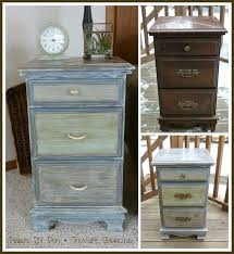 Upcycle Laminate Furniture - how to use chalkpaint on an old laminated nightstand hometalk