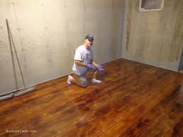 Laminate Flooring On Concrete Slab Concrete Wood Basement Floor U0026 Staining Lima Oh Home