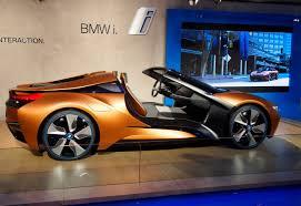 orange cars 2016 bmw i8 spyder i vision concept shows off future tech car pro