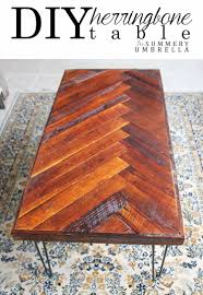 Design Your Own Coffee Table by Super Easy Diy Herringbone Coffee Table The Summery Umbrella