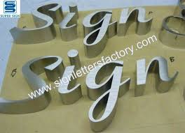 brushed stainless steel letters stainless steel letters sign