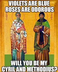 St Valentine Meme - thats adorable sts cyril methodius share a feast day with st