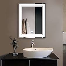 Bathroom Mirrors Led 28 X 36 In Vertical Led Bathroom Silvered Mirror With
