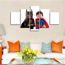 lego batman wall decor promotion shop for promotional lego batman modern home decor canvas painting wall pictures 5 panel lego batman movie living room modular hd printed poster frame pengda