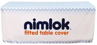 Custom Fitted Table Covers by 6ft Fitted Table Cover Custom Graphic Nimlok Online