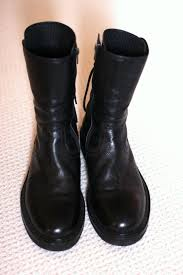 recommended motorcycle boots ann demeulemeester vitello backlace boots creeper sole size 42 us9