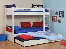 Buy Stompa Classic Kids White Bunk Bed With Trundle Bed - White bunk beds uk