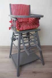 chaise haute en bois vintage pour poupée jeux jouets par by