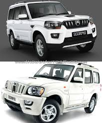 mitsubishi old models new mahindra scorpio vs old mahindra scorpio front three quarter