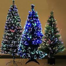 luxury fiber optic 3ft 4ft 5ft 6ft christmas tree multi color