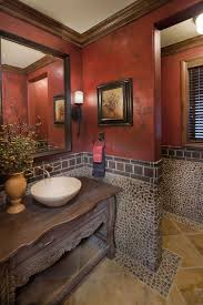 faux painting ideas for bathroom this powder bath really stands out with the great use of stone