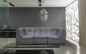 Modern Grey Sectional Sofa Casa 207 Modern Grey Bonded Leather Sectional Sofa