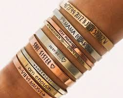 personalized cuff bracelet personalized gold band cuff bracelet personalized bracelet bangle