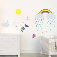 happy clouds rainbow nursery childs bedroom wall sticker happy clouds rainbow nursery childs bedroom wall sticker decals