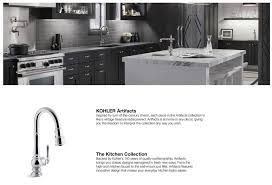 shop kohler artifacts polished chrome 1 handle pull down kitchen