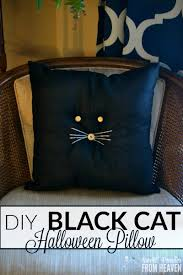 diy black cat pillow primitive farmhouse halloween craft