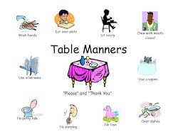 table manners good table manners clipart clipart panda free clipart images