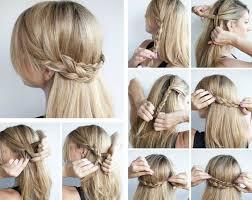 Hochsteckfrisurenen Einfach Geflochten by Die Besten 25 Haarkranz Flechten Ideen Auf