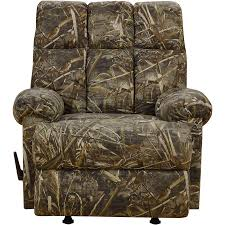 modern camo recliner brings stylish comfort to your home