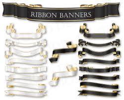black and gold ribbon ribbon banners cliparts black and white ribbons wedding