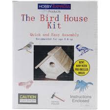 amazon com pinepro unfinished wood kit bird house arts crafts