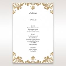 wedding menu cards wedding reception menu cards by b wedding invitations