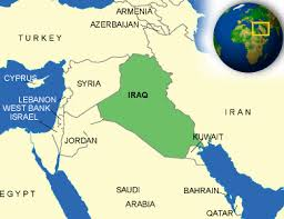 map of irak map of iraq terrain area and outline maps of iraq countryreports