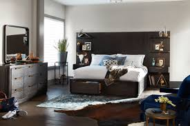 American Signature Furniture Bedroom Sets by Malibu Queen Tall Storage Wall Bed Umber American Signature