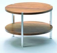 couchtische nussbaum echtholz runder couchtische mit 2 robusten tischplatten aus nussbaum massivholz
