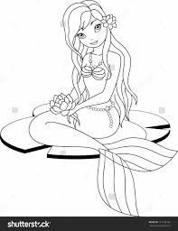 coloring pages mermaids for mucha line art by mermaid mermaid coloring coloring page image